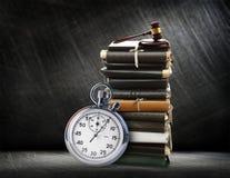Chronomètre sur l'acier Images libres de droits