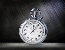 Chronomètre sur l'acier Photographie stock libre de droits
