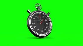 Chronomètre sur le fond vert illustration libre de droits