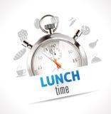 Chronomètre - temps de déjeuner Photographie stock libre de droits