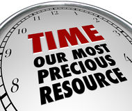 Chronométrez notre valeur d'expositions d'horloge de ressource plus précieuse de la vie Photographie stock