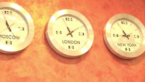 Chronométrez ZonesClock montrant en passant le temps dans différents fuseaux horaires autour du monde