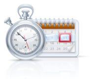 Chronometer and calendar Stock Photos