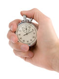Chronometer in een hand Stock Foto