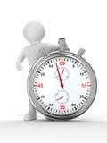 Chronometer en mens op witte achtergrond vector illustratie