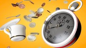 Chronometer en vliegend theekopje Royalty-vrije Stock Foto's