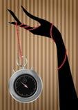 Chronometer hand Royalty Free Stock Photos