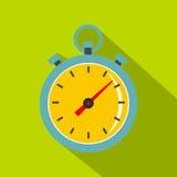 Chronometer icon, flat style Royalty Free Stock Photos