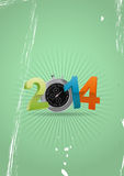 2014 chronometer. Illustration of colorful 2014 text with chronometer Stock Photo
