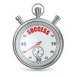 Chronometer met tekstsucces op wijzerplaat. Stock Foto's
