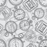 Chronometer. Naadloos. Stock Afbeelding