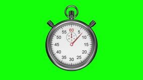 Chronometer op groene achtergrond stock illustratie