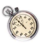 Chronometer op witte achtergrond wordt geïsoleerd die stock fotografie