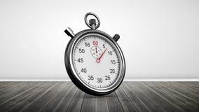 Chronometer in ruimte met houten vloeren royalty-vrije illustratie