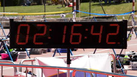 Chronometer running or sport clock in sport event stock video footage