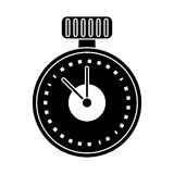 chronometer time sport tool pictogram Stock Image