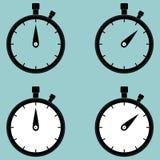 Chronometer, tweede tegenpictogram Royalty-vrije Stock Fotografie