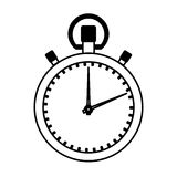 Chronometer watch isolated icon Stock Images