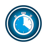 Chronometer watch isolated icon Royalty Free Stock Images