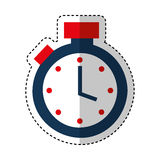 Chronometer watch isolated icon Stock Photography