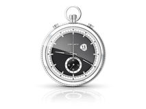 Chronometer with white dial Stock Photos