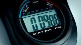 Chronometertellingen aan Close-up 10 stock footage