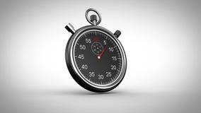 Chronometertiming op grijze achtergrond royalty-vrije illustratie
