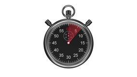 Chronometertiming op witte achtergrond stock illustratie