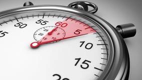 Chronometertiming op witte achtergrond royalty-vrije illustratie
