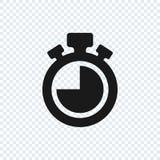 Chronometr wektorowa ikona na przejrzystym tle Stopwatch wektoru ikona ilustracji