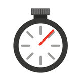 Chronometru zegarka odosobniona ikona Zdjęcie Royalty Free