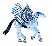 Chroom Pegasus royalty-vrije illustratie