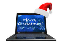Chrsitmas computer Royalty Free Stock Images