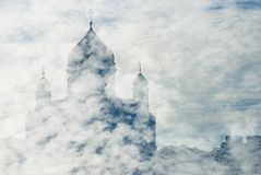 Chrst the Savior Church silhouette in Moscow Stock Photography