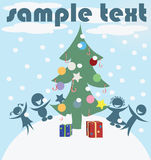 Chrstmas card Royalty Free Stock Photos