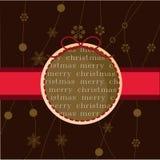 Chrstmas card. Christmas card for christmas, winter and holiday themes Royalty Free Stock Photos