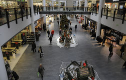 CHRSTMAS IN FRDERIKSERBG SHOPPING CENTER Royalty Free Stock Photo