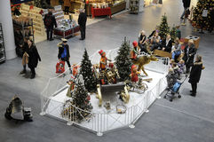 CHRSTMAS IN FRDERIKSERBG SHOPPING CENTER Royalty Free Stock Photography
