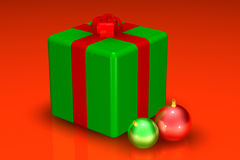 Chrstmas gift and decorations Royalty Free Stock Images