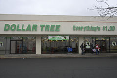 CHRSTMAS SHOPPERS AT DOLLAR TREE STORE Royalty Free Stock Images