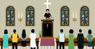 Chruch episcopale in primavera illustrazione vettoriale