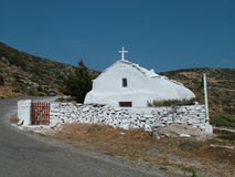 Chruch no console de Amorgos Imagem de Stock Royalty Free