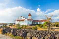 Chruch in Seopjikoji Mount Jeju Island , South Korea Royalty Free Stock Images