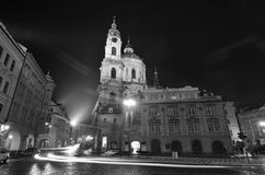 The Chruch of St. Nicholas by night Stock Photography