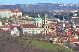 The Chruch of St. Nicholas at spring season in Prague city Royalty Free Stock Photography