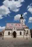 Chruch van het Teken van Zagreb/St Stock Afbeeldingen