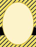 Chrvron pattern border / frame Stock Images