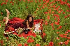 Chrysanth Feld Erinnerung oder Anzac Day lizenzfreies stockfoto