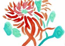 Chrysantheme - einer der vier Herren - Tinten-Zeichnung lizenzfreie abbildung