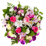 Chrysantheme und Rosen im Blumenblumenstrauß stockfoto